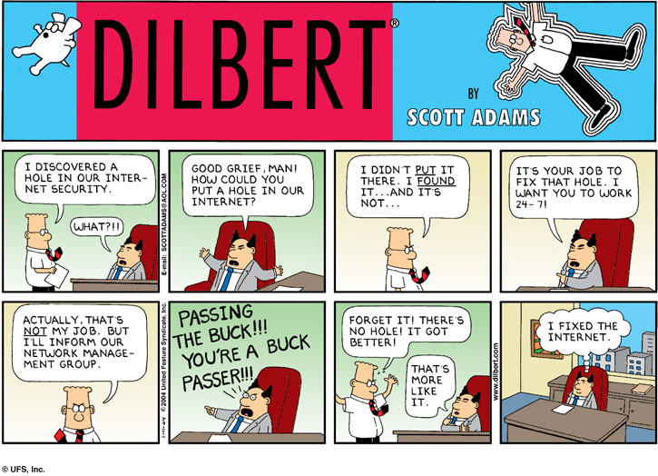 Dilbert Internet Security Hole